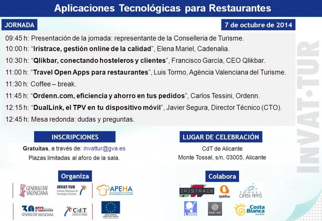 Jornada aplicaciones tecnológicas para el restaurantes