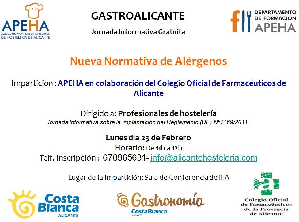 CARTEL IFA Jornadas informativas Alergenos